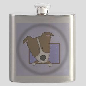 bordercolliebrn_drawing_ornament Flask