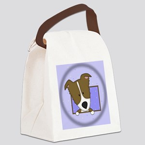 bordercolliebrn_drawing_ornament Canvas Lunch Bag