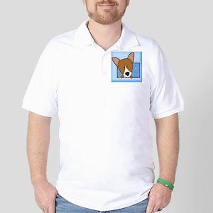 corgi_drawing_tile Golf Shirt