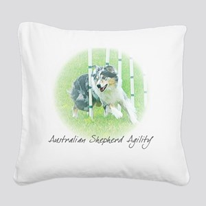 aussie_agility Square Canvas Pillow
