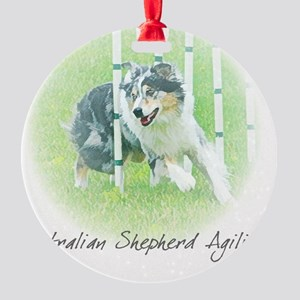 aussie_agility Round Ornament