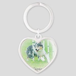aussie_agility Heart Keychain