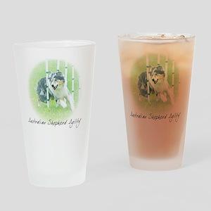 aussie_agility Drinking Glass