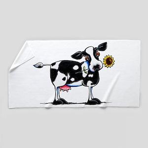 Sunny Cow Beach Towel