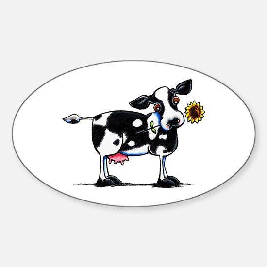 Sunny Cow Sticker (Oval)