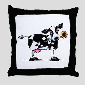 Sunny Cow Throw Pillow