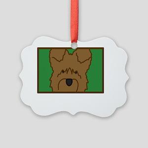 anime_briard_blk Picture Ornament