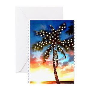 Palm Tree Christmas Greeting Cards Cafepress