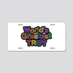 World's Greatest Troy Aluminum License Plate