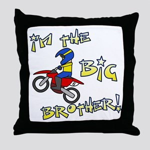 moto_bigbrother_blk Throw Pillow
