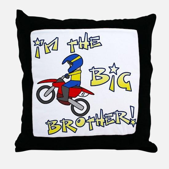 moto_bigbrother_blk Throw Pillow