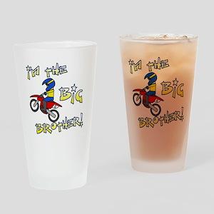 moto_bigbrother_blk Drinking Glass