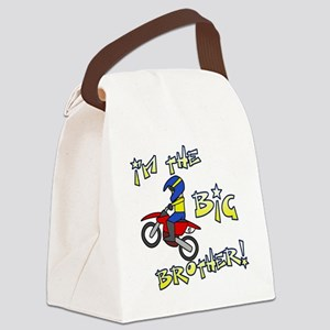 moto_bigbrother_blk Canvas Lunch Bag