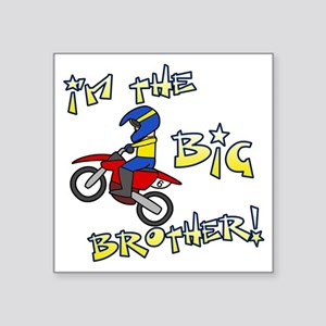 "moto_bigbrother_blk Square Sticker 3"" x 3"""