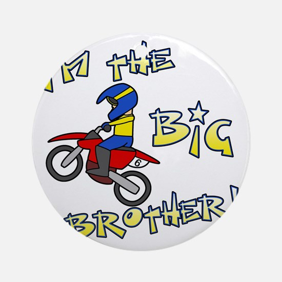 moto_bigbrother_blk Round Ornament