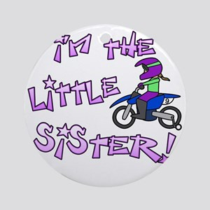 moto_littlesister Round Ornament