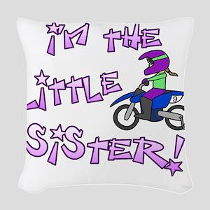 moto_littlesister Woven Throw Pillow