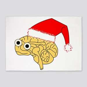 Santa Hat Brain 5'x7'Area Rug