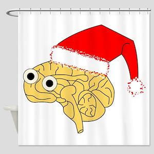Santa Hat Brain Shower Curtain