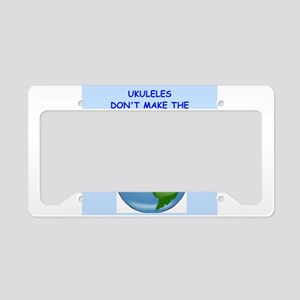 ukuleles License Plate Holder