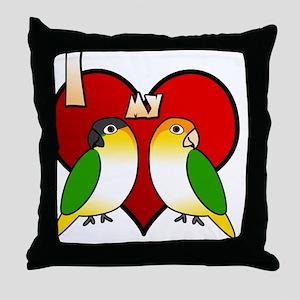 iheartmy_customcaique Throw Pillow