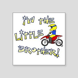 "moto_littlebrother Square Sticker 3"" x 3"""