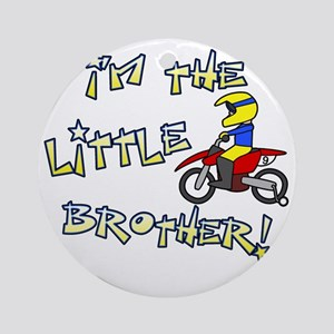 moto_littlebrother Round Ornament