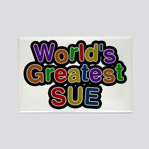 World's Greatest Sue Rectangle Magnet