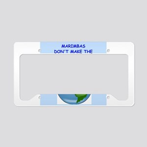 marimbas License Plate Holder