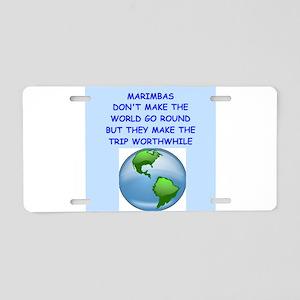 marimbas Aluminum License Plate