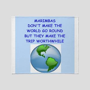marimbas Throw Blanket