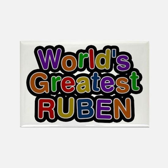 World's Greatest Ruben Rectangle Magnet
