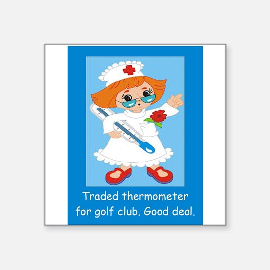 Traded thermometer for golf club. Good dea Sticker