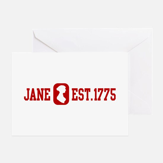 Jane Est.1775 Greeting Cards