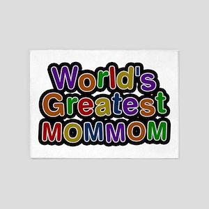 World's Greatest Mommom 5'x7' Area Rug