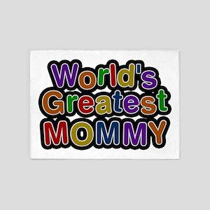 World's Greatest Mommy 5'x7' Area Rug
