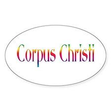Corpus Christi Oval Sticker