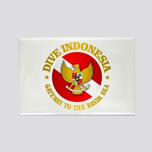 Dive Indonesia (rd) Rectangle Magnet