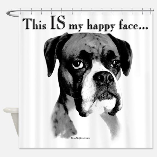 Boxer Happy Face Shower Curtain