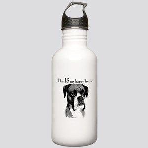 Boxer Happy Face Water Bottle