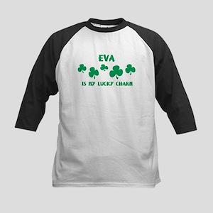 Eva is my lucky charm Kids Baseball Jersey