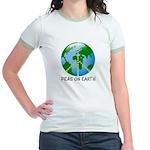 Peace Peas on Earth Christmas Jr. Ringer T-Shirt