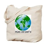 Peace Peas on Earth Christmas Tote Bag