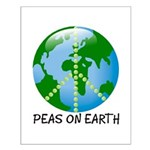 Peace Peas on Earth Christmas Small Poster