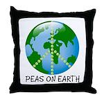 Peace Peas on Earth Christmas Throw Pillow