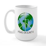 Peace Peas on Earth Christmas Large Mug