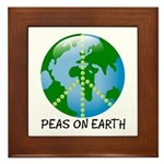 Peace Peas on Earth Christmas Framed Tile
