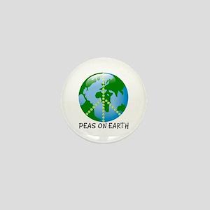Peace Peas on Earth Christmas Mini Button