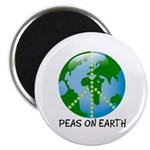 "Peace Peas on Earth Christmas 2.25"" Magnet (10 pac"