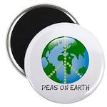 "Peace Peas on Earth Christmas 2.25"" Magnet (100 pa"